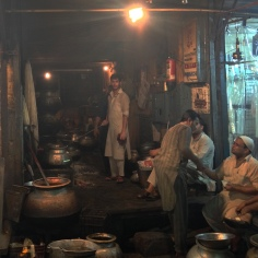 The delicious smelling Biryani was made with a lot of sweat, and a gentle smile in the humid heat.