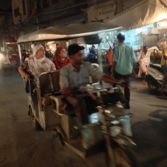 At least the cycle-rickshaws are now 4 seater electric-rickshaws